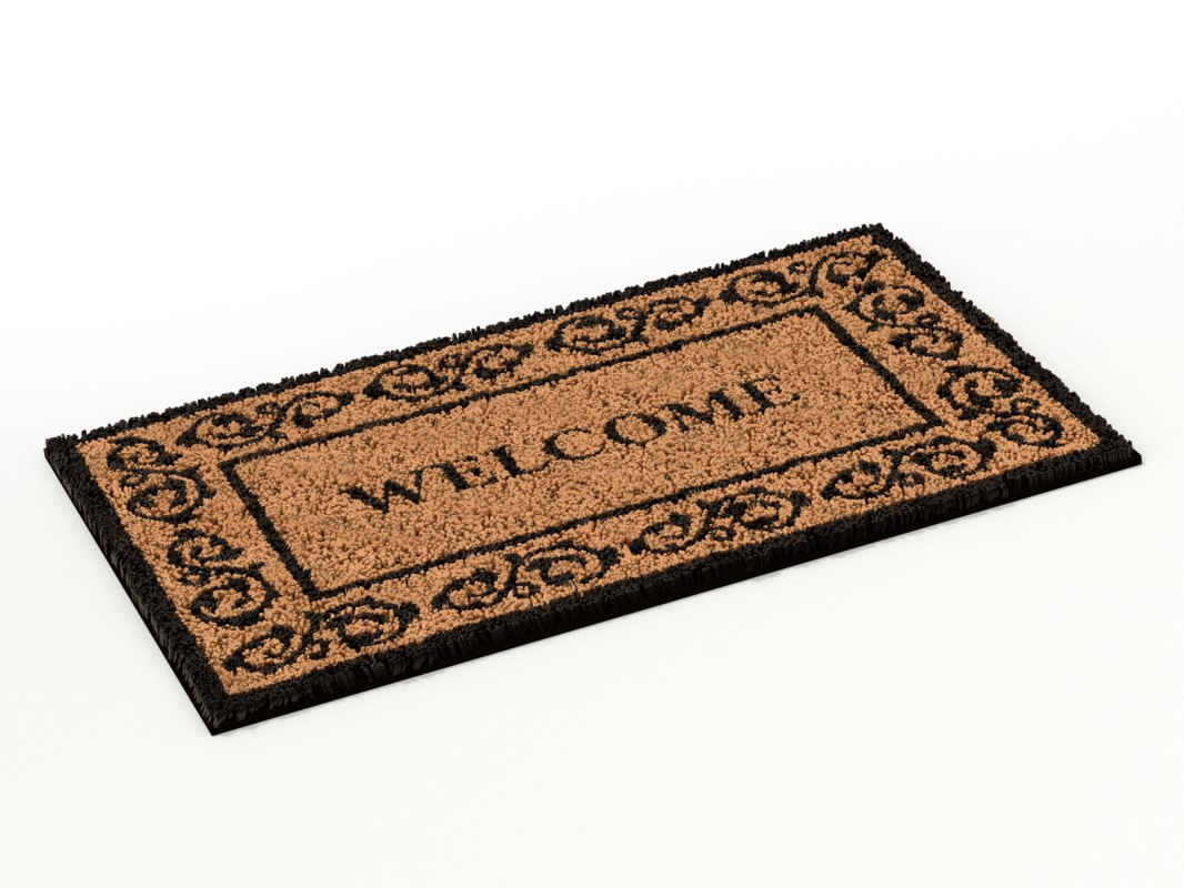 3D door doormat mat