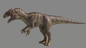 3D rigged studio license allosaurus