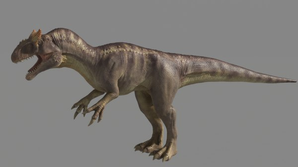 3D rigged studio license allosaurus