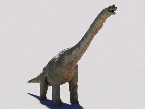 brachiosaurus dinosaur rig studio 3D model