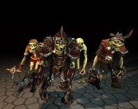 3D customization stylized zombie animations