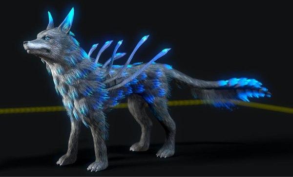3D wolf rig studio license model
