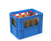 plastic crate bottles 3D model