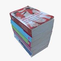3D model books design settings