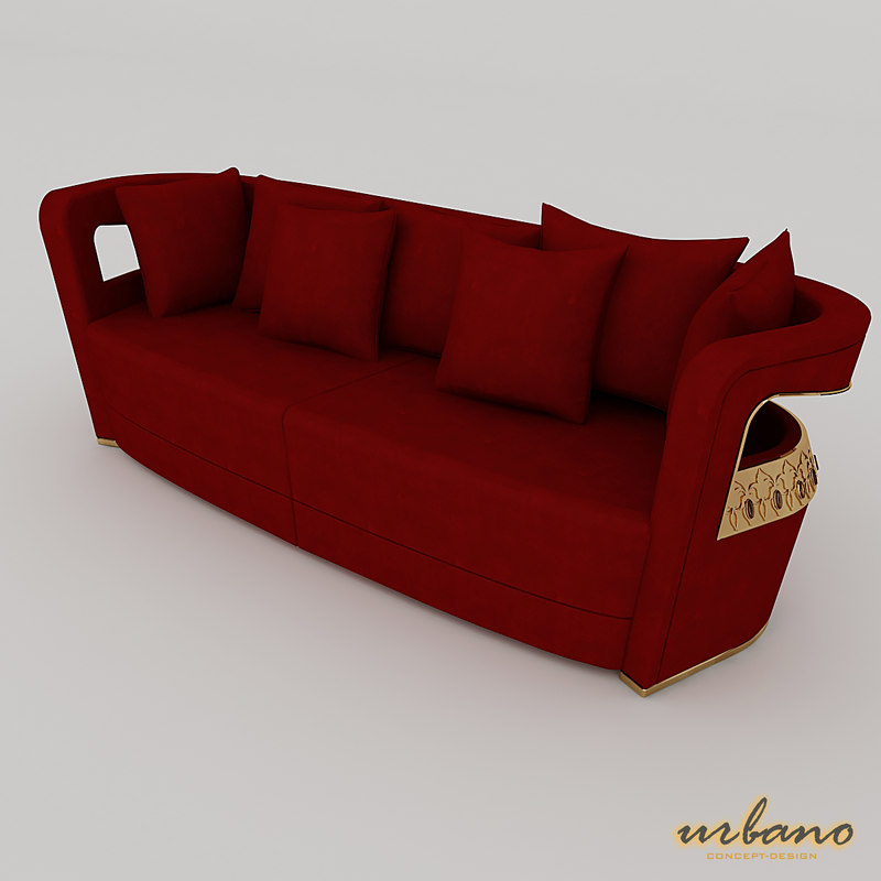 3D italian sofa luxury