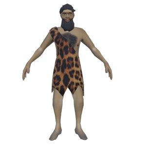 primitive caveman 3D