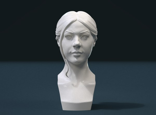 3D girls head