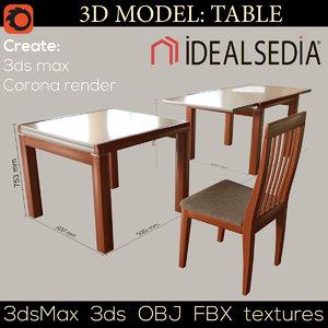3D table ideal sedia model