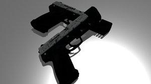 dual pistols 3D model