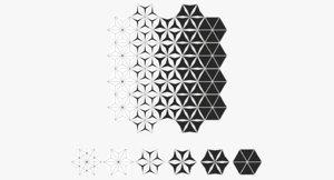 3D tile hexagon