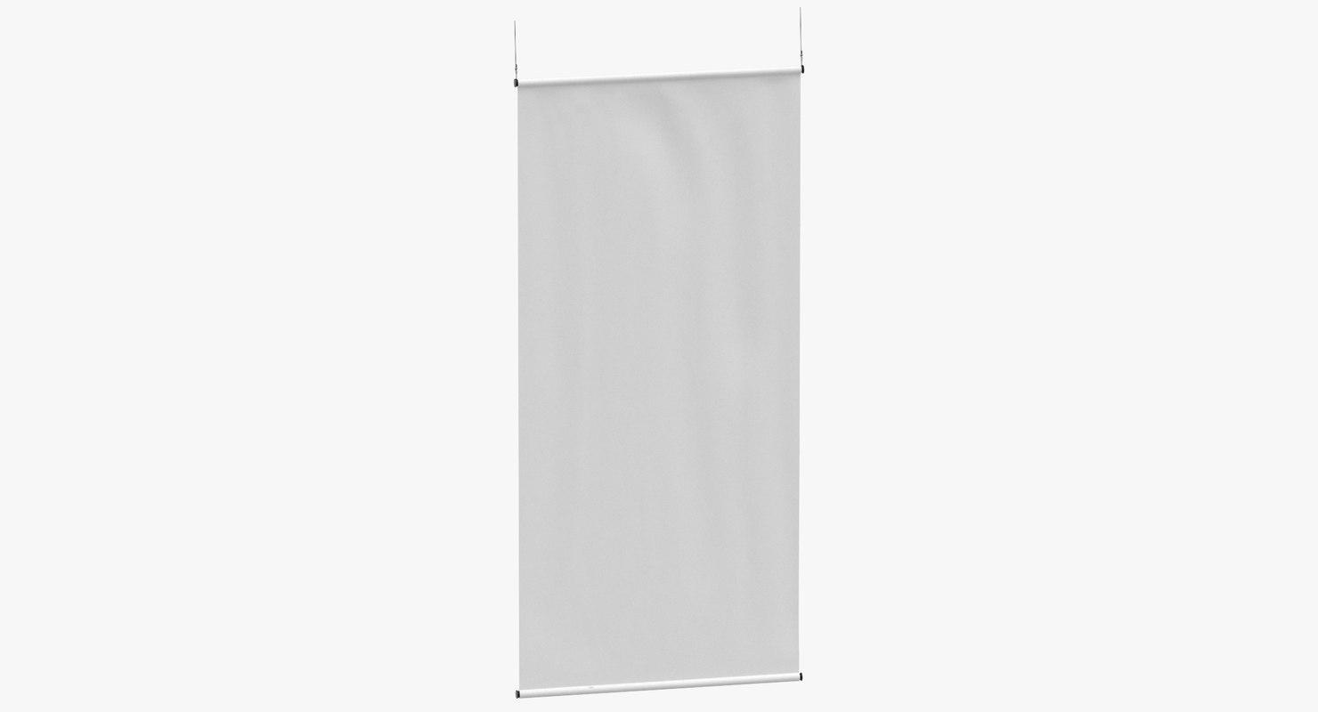 stage banner 02 3D model