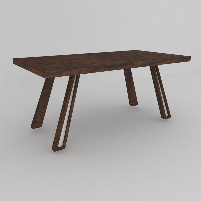3D modern dining table wooden