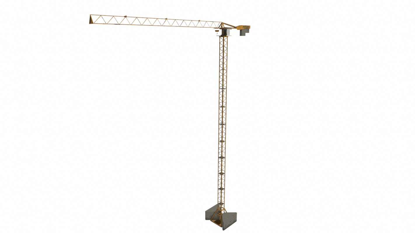 3D realistic tower crane gaming