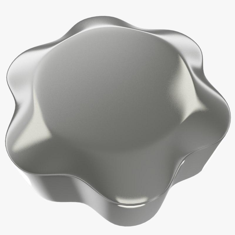 3D head screw model
