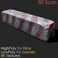 Urban Concrete Block Photogrammetry 3D Scan