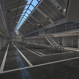 prison cells 3D model