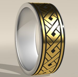 ring ornamental tribal 3D model