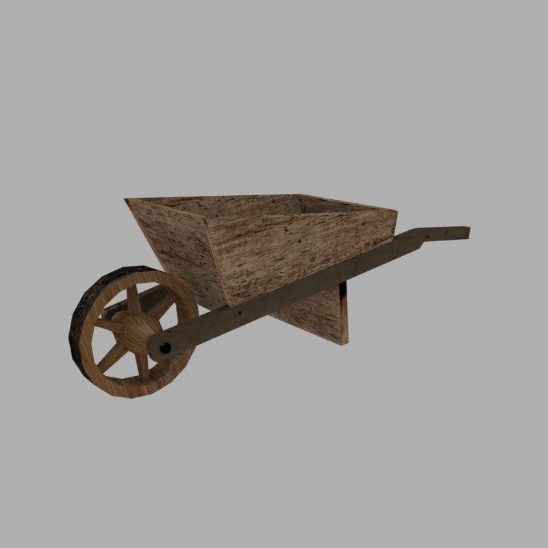 wooden cart model