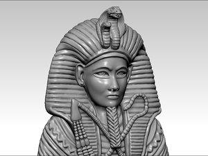 3D pharaoh tuttankhamon model