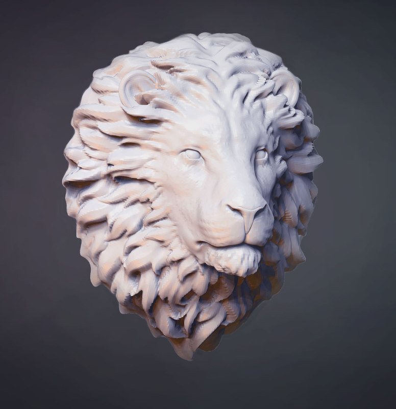 3D lion head sculpture s