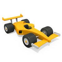 3D racing cartoon car
