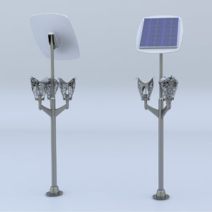 3D outdoor lighting armature model