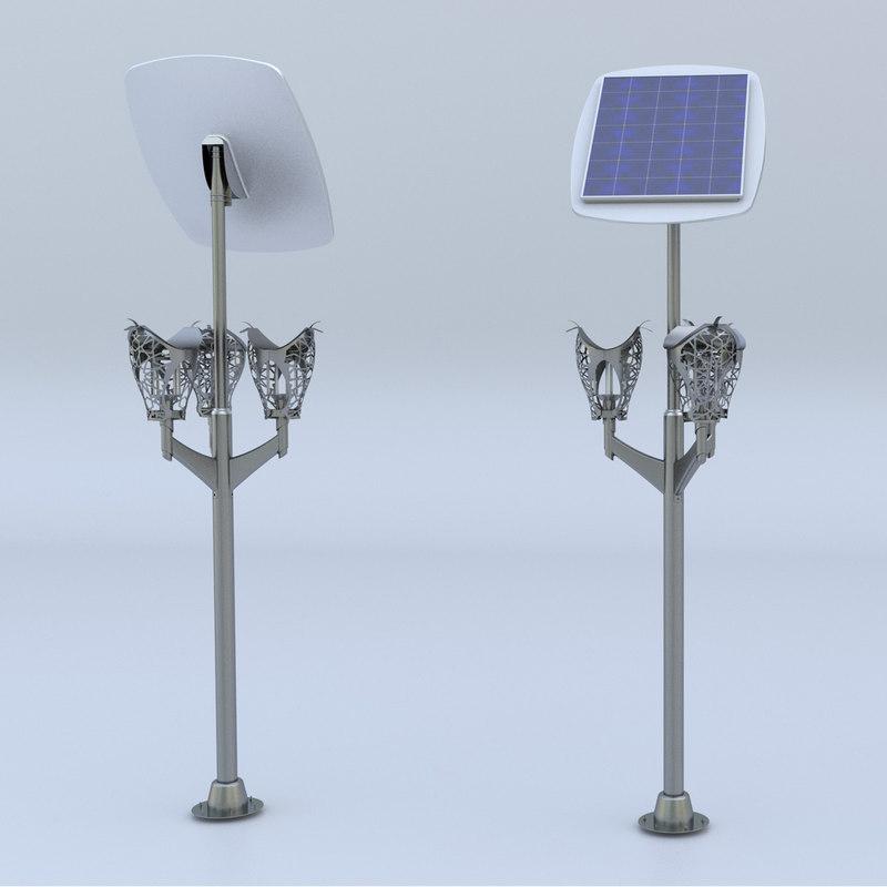 3D outdoor lighting armature model