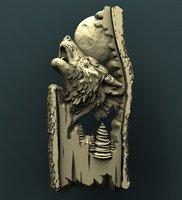 wolf relief cnc 3D model