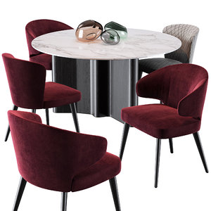 3D minotti aston dining chair model