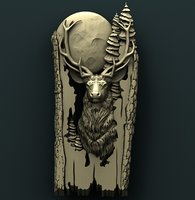 3D deer cnc model
