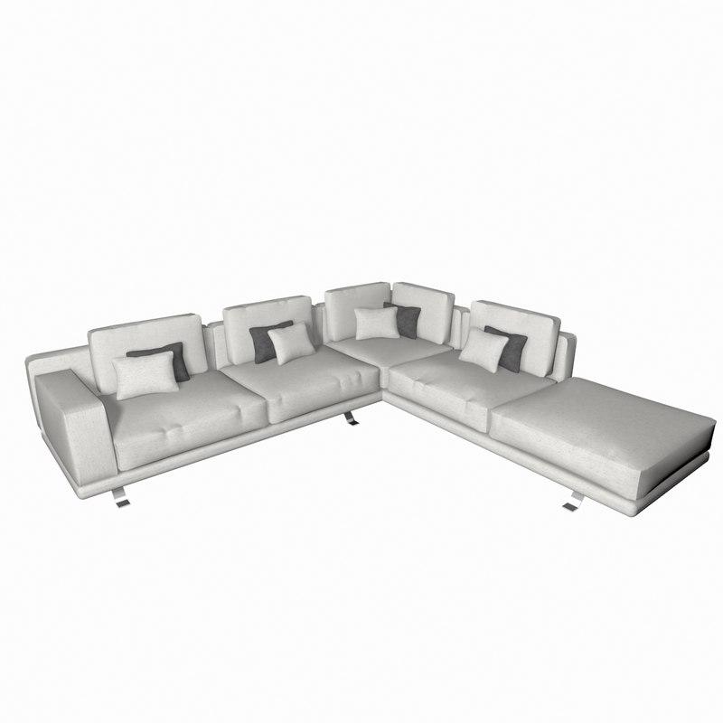 3D model sofa l shape modern - TurboSquid 1320480