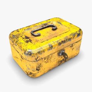 yellow cash money box 3D