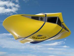 3D flying sub model