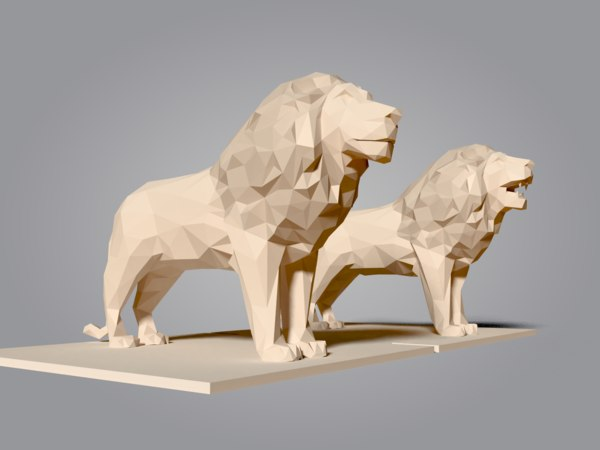 3D lion cartoon