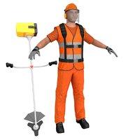 road worker 3D