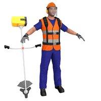road worker model