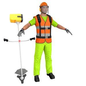 road worker 3D model