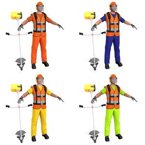 pack road worker model