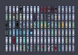 3D skateboard 150 deck styles model
