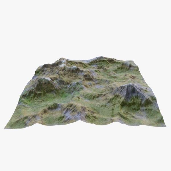3D mountainous landscape