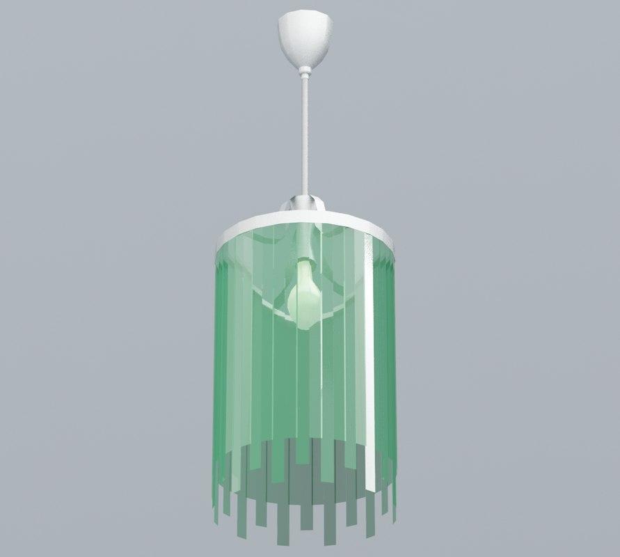 green glass lamp fr 3D