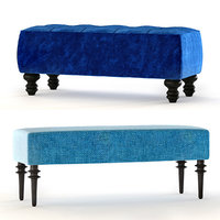 essex bench upholstered 3D