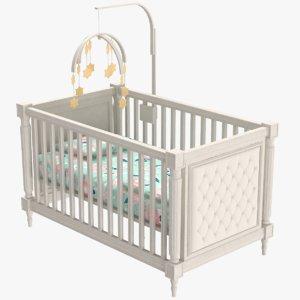3D baby bed