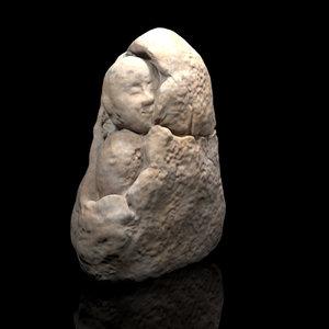 3D korean historic stone sculpture model
