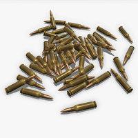 cartridges 7x62 pbr 3D