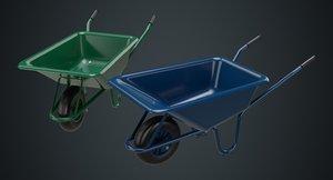 3D wheelbarrow 1a model