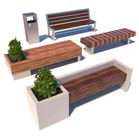 Street modern benches