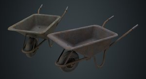 3D wheelbarrow 1c model