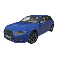 3D generic german station wagon model