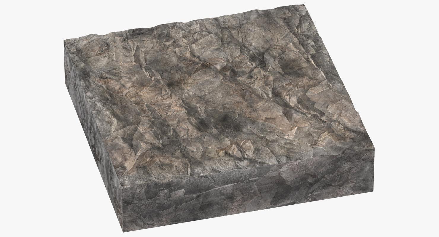 rock cross sections cliffs 3D